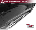 "TAC Stainless Steel 5"" Oval Bend Side Steps For 2019-2020 Chevy Silverado/GMC Sierra 1500 Crew Cab 