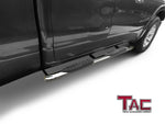 "TAC Stainless Steel 5"" Oval Bend Side Steps For 2019-2020 Dodge Ram 1500 Quad Cab Truck (Excl. 19-20 RAM 1500 Classic) 