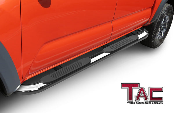 "TAC Replacement Step Pad for 4 Inch Oval Bend Tube Side Steps Running Board Side Bar Nerf Bar – 1 Step Pad with 5 Clips(Only Fit TAC Brand 4"" Side Steps)"
