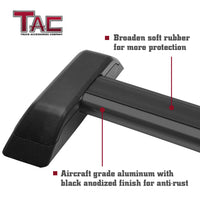 TAC Black Cross Bars Fit 2006-2010 Hummer H3 with Lock System Black OE Style Aluminum Roof Top Rail Rack Snowboard Kayak Canoe Luggage Carrier