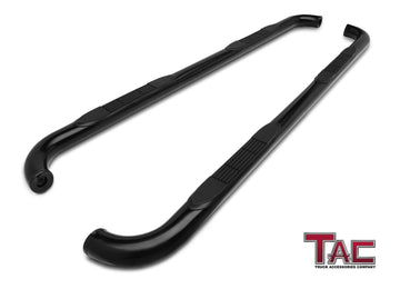 "TAC Gloss Black 3"" Side Steps For 1998-2001 Dodge Ram 1500/2500/3500 Quad Cab / 1994-2001 Dodge Ram 1500/2500/3500 Crew Cab Truck 
