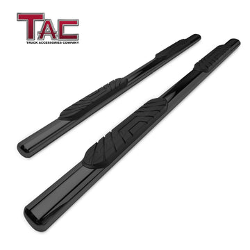 "TAC Gloss Black 4"" Side Steps for 2004-2021 Nissan Titan Crew Cab (Exclude 2016 Titan) / 2016-2021 Nissan Titan XD Crew Cab Truck 
