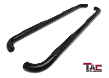 "TAC Gloss Black 3"" Side Steps For 2010-2021 Dodge Ram 2500/3500 Mega Cab Truck 