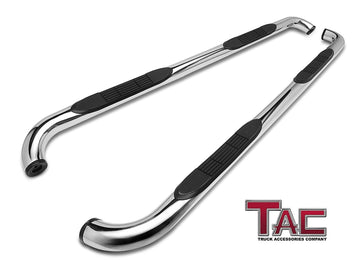 "TAC Stainless Steel 3"" Side Steps For 2004-2021 Nissan Titan Crew Cab (Exclude 2016 Titan)/ 2016-2021 Nissan Titan XD Crew Cab Truck 
