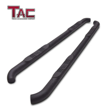 "TAC Heavy Texture Black 3"" Side Steps For 2018-2021 Jeep Wrangler JL 4 Door SUV 