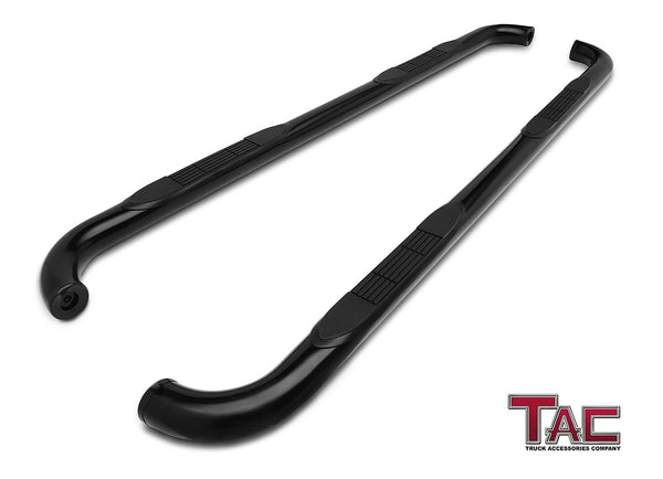 "TAC Gloss Black 3"" Side Steps For 1988-1998 Chevy/GMC C/K 2 Door Extended CAB (Incl. Z71) Truck 