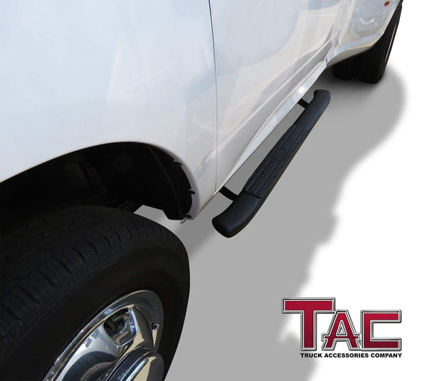 TAC Heavy Texture Black PNC Side Steps For 2009-2018 Dodge Ram 1500 (Incl. 2019-2021 Ram 1500 Classic) /2010-2021 Dodge Ram 2500/3500 Regular Cab Truck | Running Boards | Nerf Bars | Side Bars