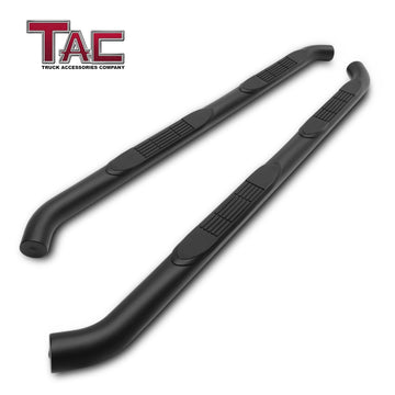 "TAC Fine Texture Black 3"" Side Steps For 2018-2021 Jeep Wrangler JL 4 Door SUV 