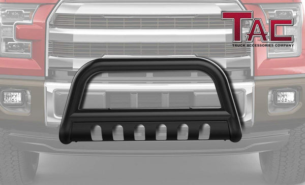 "TAC Gloss Black 3"" Bull Bar For 1999-2007 Chevy Silverado 1500 (07 Classic)/GMC Sierra 1500 (07 Classic)/01-06 Chevy Avalanche 1500 (with or w/o cladding)/00-06 Chevy Tahoe 1500/Suburban 1500/GMC Yukon/Yukon XL 1500 Truck Front Bumper"
