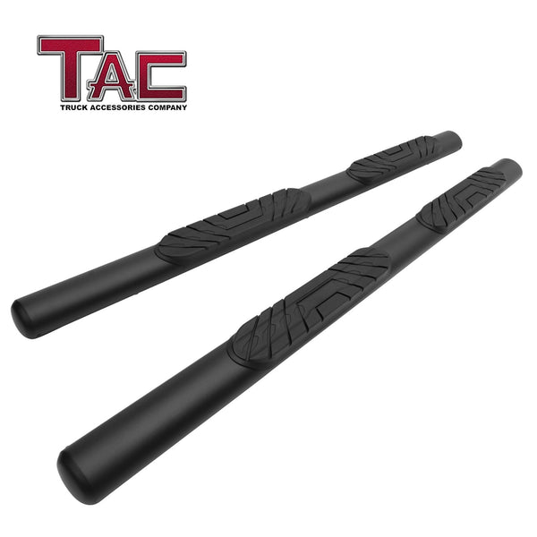 "TAC Fine Texture Black 4"" Side Steps for 2019-2021 Chevy Silverado/GMC Sierra 1500 