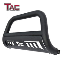 "TAC Heavy Texture Black 3"" Bull Bar For 2004-2021 Ford F150 Truck (Excl. Heritage Edition and 10-14 F150 Raptor Models) / 2003-2017 Ford Expedition SUV Front Bumper Brush Grille Guard Nudge Bar"