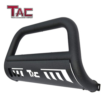 "TAC Heavy Texture Black 3"" Bull Bar For 2019-2021 Chevy Silverado 1500 (Excl. 2019 Silverado 1500 LD) Pickup Truck Front Bumper Brush Grille Guard Nudge Bar"