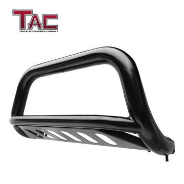 "TAC Gloss Black 3"" Bull Bar For 2011-2021 Ford F150 EcoBoost ( Excluded 10-14 F150 Raptor Models ) Truck Front Bumper Brush Grille Guard Nudge Bar"