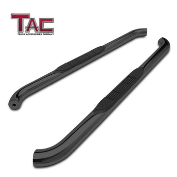 "TAC Gloss Black 3"" Side Steps For 2018-2021 Jeep Wrangler JL 2 Door SUV 