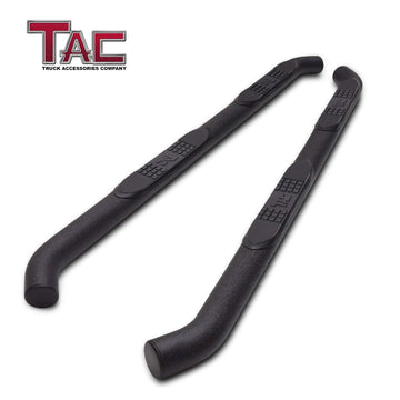 "TAC Heavy Texture Black 3"" Side Steps For 2005-2020 Toyota Tacoma Double Cab Truck 