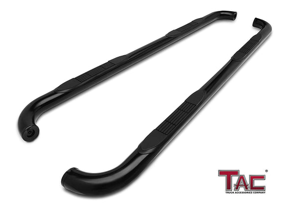 "TAC Gloss Black 3"" Side Steps For 2000-2020 Chevy Tahoe (Excl. 02-06 Z71) / GMC Yukon 1/2 Ton / 2001-2018 Cadillac Escalade Truck 