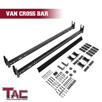TAC Gloss Black Universal 2 Bars Roof Ladder Rack for Van Without Rain Gutter (600 LBS Capacity)