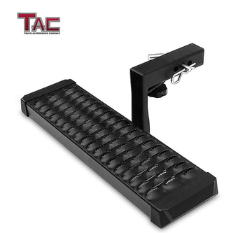 "TAC Fine Texture Aluminum Hitch Step with 6"" Drop Universal for 2"" Rear Hitch Receivers"
