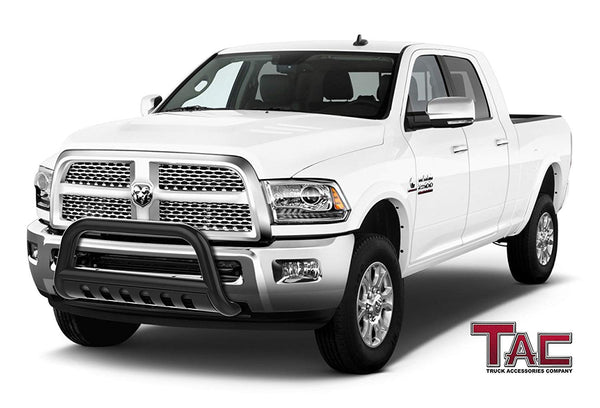 "TAC Gloss Black 3"" Bull Bar For 2010-2018 Dodge RAM 2500/3500 Heavy Duty Truck Front Bumper Brush Grille Guard Nudge Bar"