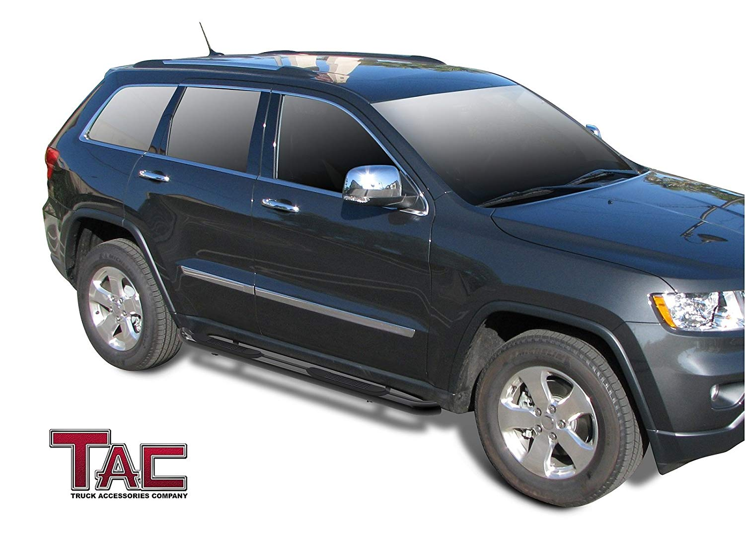 Tac Gloss Black 3 Side Steps For 2011 2021 Jeep Grand Cherokee Excl Tacusa