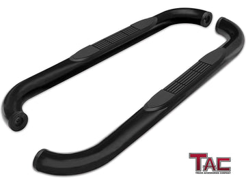 "TAC Gloss Black 3"" Side Steps For 2009-2018 Dodge Ram 1500 Regular Cab (Incl. 2019-2021 Ram 1500 Classic) / 2010-2021 Dodge Ram 2500/3500/4500/5500 Regular Cab Truck 