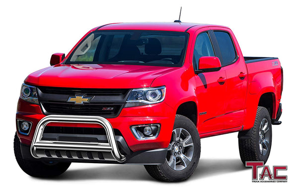 "TAC Stainless Steel 3"" Bull Bar For 2015-2020 Chevy Colorado (Excluded ZR2 Model)0/ GMC Canyon Truck Front Bumper Brush Grille Guard Nudge Bar"