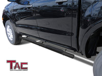 "TAC Fine Texture Black 4"" Side Steps for 2019-2021 Ford Ranger SuperCrew Cab Truck 