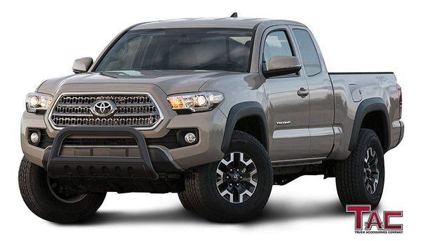 "TAC Gloss Black 3"" Bull Bar For 2016-2021 Toyota Tacoma Truck Front Bumper Brush Grille Guard Nudge Bar"