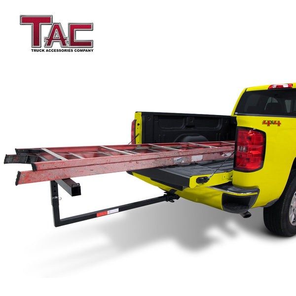 "TAC Fine Texture Adjustable Extender Ladder Rack Universal Fit 2"" Rear Hitch Receivers (500 LBS Capacity)"