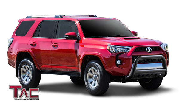 "TAC Gloss Black 3"" Bull Bar For  2010-2021 Toyota 4Runner (Excl. 14-21 Limited & 19-21 Nightshade Model) SUV Front Bumper Brush Grille Guard Nudge Bar"