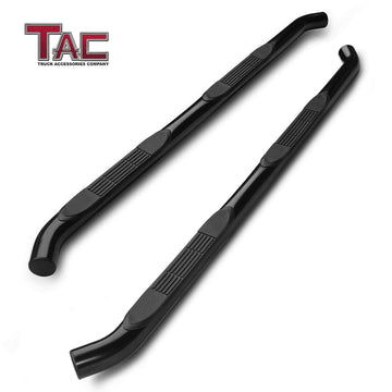 "TAC Gloss Black 3"" Side Steps For 2005-2021 Toyota Tacoma Double Cab Truck 