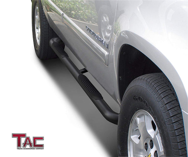 "TAC Gloss Black 3"" Side Steps For 1992-1999 Chevy Suburban (Excl. 3/4 ton 4WD) 