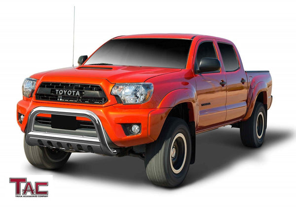 "TAC Stainless Steel 3"" Bull Bar For 2005-2015 Toyota Tacoma Truck Front Bumper Brush Grille Guard Nudge Bar"