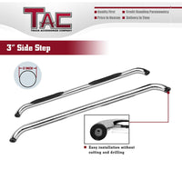 "TAC Stainless Steel 3"" Side Steps For 1999-2016 Ford F250/350/450/550 Super Duty Super Cab Truck 
