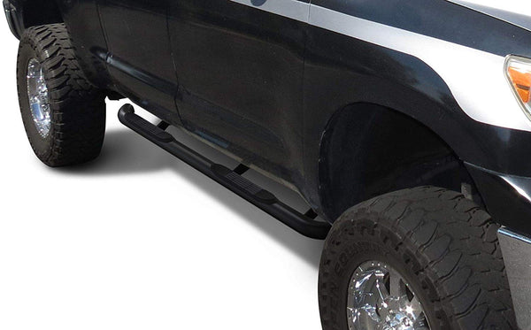"TAC Gloss Black 3"" Side Steps For 2005-2020 Nissan Frontier Crew Cab / 2005-2012 Suzuki Equator Crew Cab Truck 