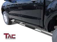 "TAC Stainless Steel 4"" Side Steps for 2019-2021 Ford Ranger SuperCrew Cab Truck 