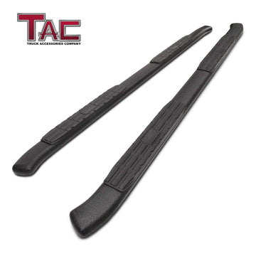 TAC Heavy Texture Black PNC Side Steps For 2015-2020 Ford F150 SuperCrew Cab / 2017-2020 Ford F250/F350/F450/F550 Super Duty Crew Cab Truck | Running Boards | Nerf Bars | Side Bars