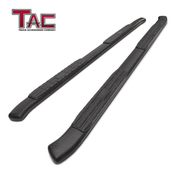 TAC Heavy Texture Black PNC Side Steps For 2019-2021 Ford Ranger SuperCrew Truck Pickup | Running Boards | Nerf Bars | Side Bars