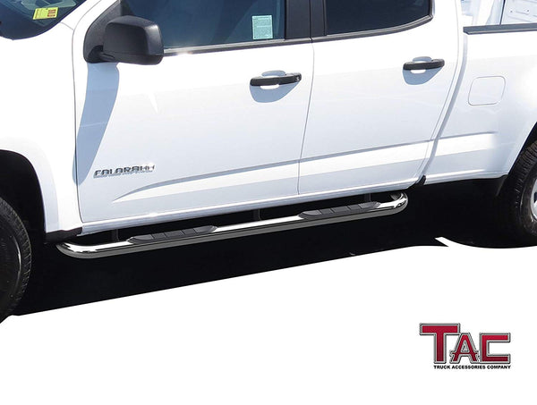 """3/"""" Round Black Step Nerf Bars Running Boards for 2015-2019 GMC Canyon Crew Cab"""