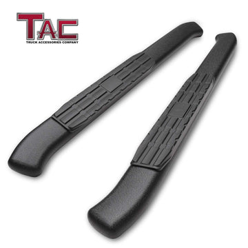 TAC Heavy Texture Black PNC Side Steps For 2018-2021 Jeep Wrangler JL 2 Door SUV | Running Boards | Nerf Bars | Side Bars