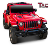 "TAC Gloss Black 3"" Bull Bar For 2018-2021 Jeep Wrangler JL / 20-21 Jeep Gladiator Front Bumper Brush Grille Guard Nudge Bar"