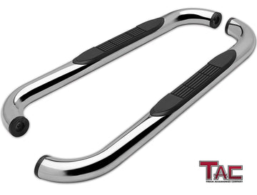 "TAC Stainless Steel 3"" Side Steps For 99-18 Chevy Silverado/GMC Sierra 1500/99-19 Silverado/Sierra 2500/3500 Regular Cab (Excl. C/K Classic) Truck 