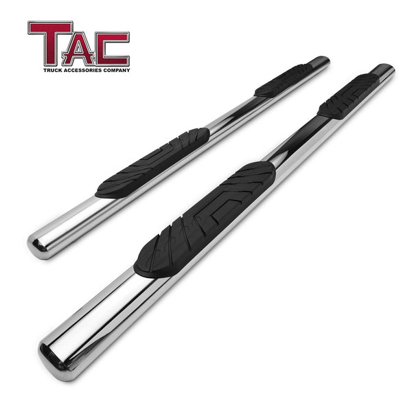 "TAC Stainless Steel 4"" Side Steps for 2015-2021 Ford F150 Supercrew Cab / 2017-2021 Ford F250/F350/F450/F550 Super Duty Crew Cab 