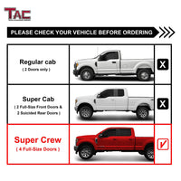 "TAC Gloss Black 3"" Side Steps For 2015-2020 Ford F150 SuperCrew Cab / 2017-2020 Ford F250/F350/F450/F550 Super Duty Crew Cab Truck 