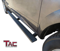 TAC Fine Texture Black I4 Running Boards For 2007-2020 Toyota Tundra Double Cab Truck | Side Steps | Nerf Bars | Side Bars