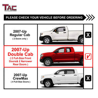 "TAC Stainless Steel 4"" Side Steps for 2007-2021 Toyota Tundra Double Cab Truck 