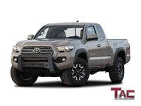 TAC Predator Modular Bull Bar Mesh Version For 2005-2021 Toyota Tacoma Truck Front Bumper Brush Grille Guard Nudge Bar