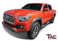 "TAC Stainless Steel 3"" Side Steps For 2005-2021 Toyota Tacoma Double Cab Truck 