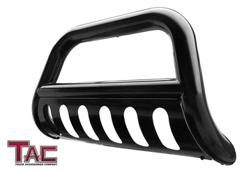 "TAC Gloss Black 3"" Bull Bar For 2004-2021 Ford F150 Truck (Excl. Heritage Edition and 10-14 F150 Raptor Models) / 2003-2017 Ford Expedition SUV Front Bumper Brush Grille Guard Nudge Bar"