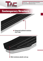 TAC ViewPoint Running Boards Fit 2007-2017 Chevy Traverse (Excl. Denali) / 2007-2017 GMC Acadia (Excl. Denali) / 2007-2010 Saturn Outlook / 2007-2009 Buick Enclave SUV | Side Steps | Nerf Bars | Side Bars